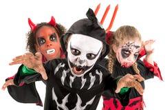 Kinder in Halloween Lizenzfreies Stockfoto