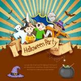 Kinder in Halloween-Partei Lizenzfreies Stockbild