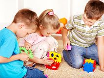 Kinder im Kindergarten. Stockfoto