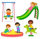 Kinder im Spielplatz vektor abbildung