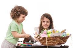 Kinder am Kindergarten Lizenzfreie Stockbilder