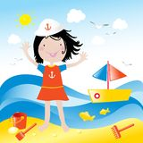 Kinder lieben es Feiertag Lizenzfreies Stockbild
