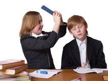 Kinder mit Büchern Lizenzfreie Stockbilder