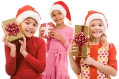 Kinder mit Geschenken Stockbilder