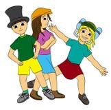 Kinder mit Hüten Stockbild