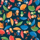 Kinder mit Regenschirmen Lizenzfreie Stockfotos