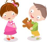 Kinder mit Spielwaren Stockfoto