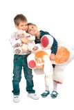 Kinder mit Spielwaren Lizenzfreie Stockbilder