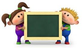 Kinder mit Tafel Lizenzfreie Stockfotografie