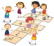 Kinder mit Vorstand stock abbildung