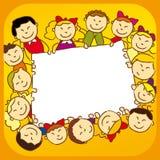 Kinder mit Zeichen Lizenzfreie Stockbilder