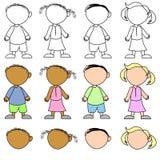 Kinder ohne Gesichtsausdrücke Lizenzfreie Stockfotos