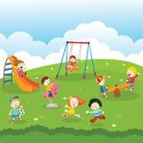 Kinder am Park Stockbilder