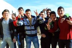 Kinder in Rammallah Stockbild