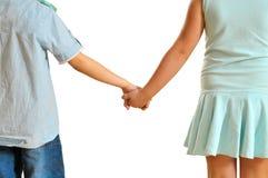 Kinder schließen sich Händen an Lizenzfreie Stockfotos