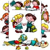 Kinder schulen Satz Lizenzfreies Stockbild