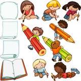 Kinder schulen Satz Stockfoto