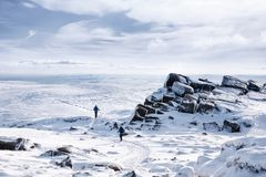 Kinder Scout in winter Stock Photography