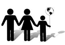 Kinder sind die Zukunft von Erde lizenzfreie abbildung