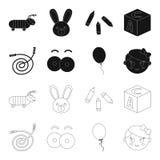 Kinder spielen Schwarzes, Entwurfsikonen in der Satzsammlung für Design Spiel und Flitter vector Netzillustration des Symbols auf Lizenzfreie Stockfotografie