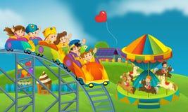 Kinder am Spielplatz - Illustration für die Kinder Lizenzfreie Stockbilder