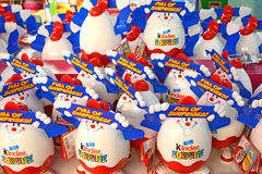 Kinder Surprise. Lots Of Kinder Surprise Chocolate Eggs Stock Photos