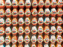 Kinder Surprise Chocolate Eggs Royalty Free Stock Photos