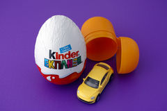 Kinder Surprise Egg and its contents Royalty Free Stock Photos