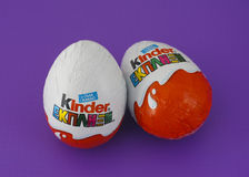 Kinder Surprise Eggs Stock Images