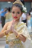 Kinder-Thailand-Studenten Kultur-Tanz Lizenzfreie Stockbilder