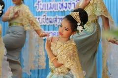 Kinder-Thailand-Studenten Kultur-Tanz Stockfoto