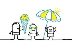 Kinder u. Sommer lizenzfreie abbildung