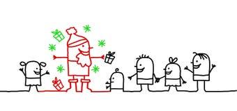 Kinder u. Weihnachten lizenzfreie abbildung