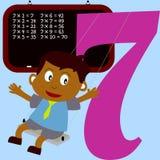 Kinder u. Zahl-Serie - 7 Lizenzfreies Stockbild