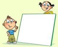 Kinder um den Vorstand Lizenzfreie Stockfotos