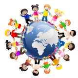 Kinder um die Welt Lizenzfreie Stockbilder
