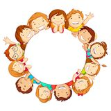 Kinder um Kreis Stockfotos