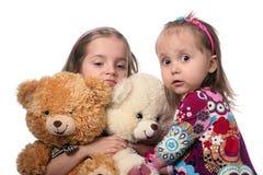 Kinder und Bären stockbilder
