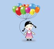Kinder und Ballone Lizenzfreie Stockfotografie