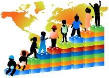 Kinder und Diagramm Lizenzfreie Stockbilder