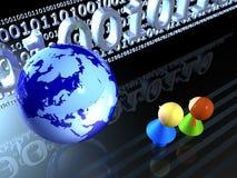 Kinder und digitale Welt Lizenzfreies Stockbild