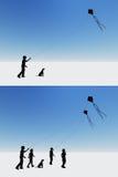Kinder und Drachen Stockfoto