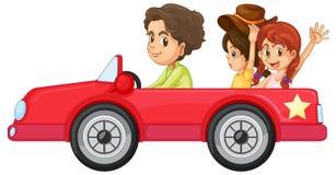 Kinder und ein Auto Lizenzfreies Stockbild