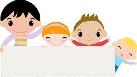 Kinder und Fahne Lizenzfreie Stockbilder