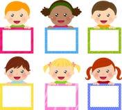 Kinder und Fahne Lizenzfreies Stockfoto