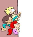 Kinder und Fahne Lizenzfreie Stockfotos
