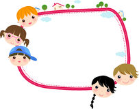 Kinder und Feld Stockbilder