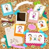 Kinder und Fotorahmen Stockbilder