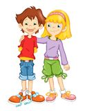 Kinder und Freundschaft Stockbild