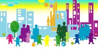 Kinder und Gemeinschaft Lizenzfreies Stockfoto